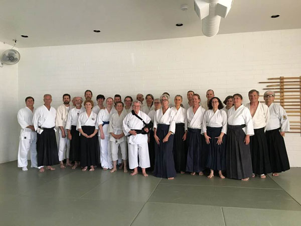 Group Photo - Mary Heiny Sensei - Aikido at the Center - April 6, 2019